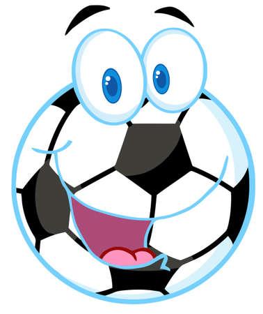 cartoon football player: Soccer Ball Cartoon Character
