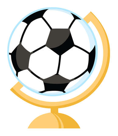 Soccer Ball Desk Globe Vector