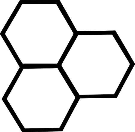 wesp: Geschetst Bee Hives Stock Illustratie