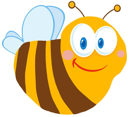 Leuke Bee Cartoon Character Stock Illustratie