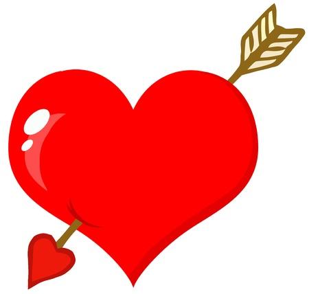 화살표가있는 구멍 심장