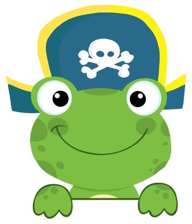 piratenhoed: Leuke Kikker met piratenhoed Meer dan een bord