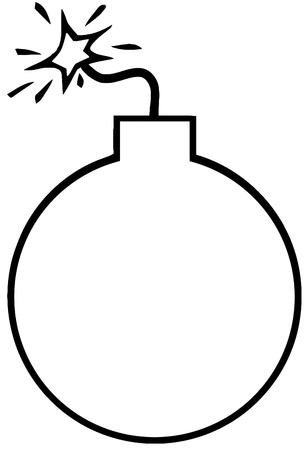 Outlined Bomb Vector