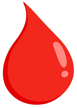 blood transfusion: Red Blood Drop Illustration