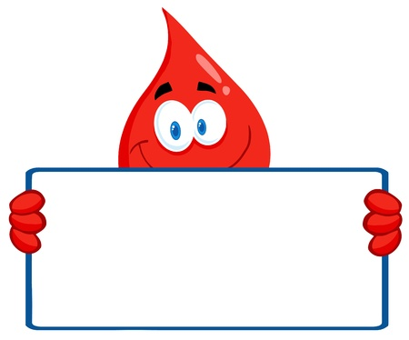 blood transfusion: Blood Guy Holding A Blank Sign