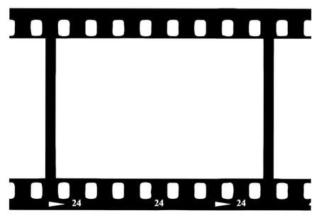 Black 35 mm Movie Film Strip Vector