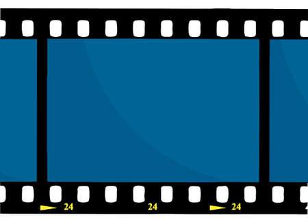 movie film: Blue 35 mm Movie Film Strip
