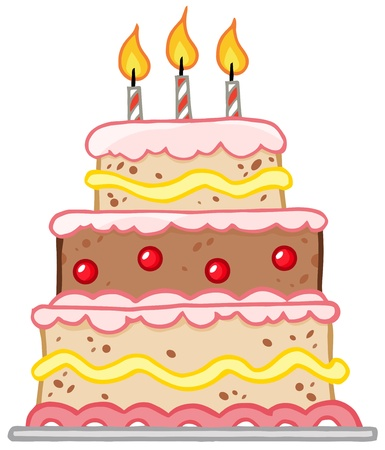 art piece: Birthday Cake With Three Candles