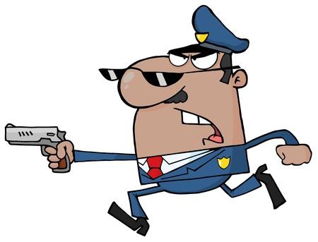Resultado de imagen para dibujo policia borracho