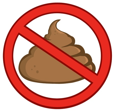 feces: Stop Poop Sign Illustration