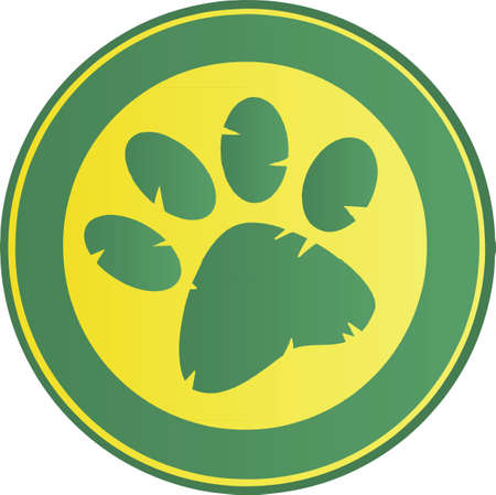 claws: Black Paw Print Banner