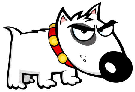 Angry Dog Bull Terrier Vector