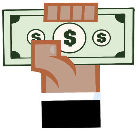 African American Hand With Cash Vector