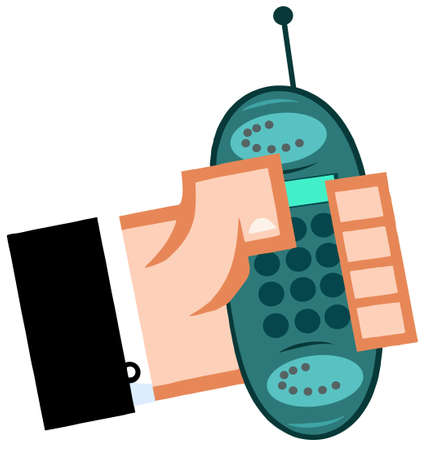 Business Hand With Cell Phone Stock Vector - 12493359