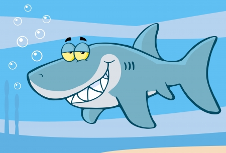 shark mouth:  Shark Cartoon Character Illustration