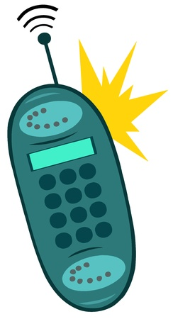 phone button: Ringing Mobile Phone Illustration