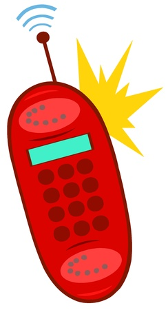 Ringing Red Mobile Phone Vector