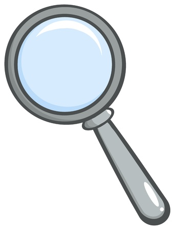 Grey Magnifying Glass Ilustrace