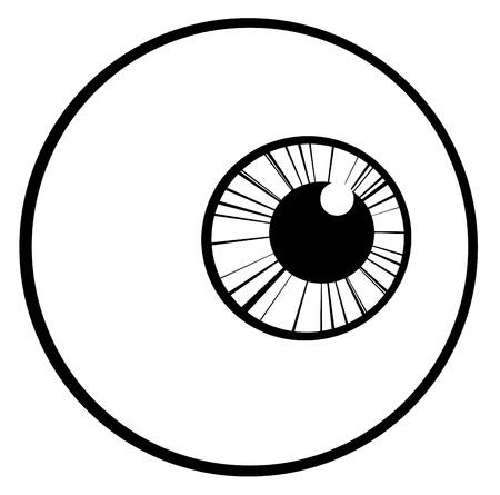 eye ball: Ojo con contorno Bola Vectores