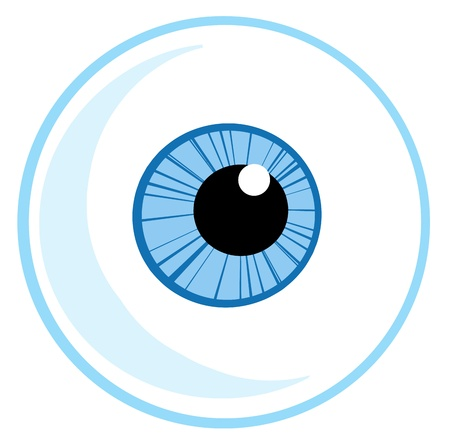 One Blue Eye Ball Vector