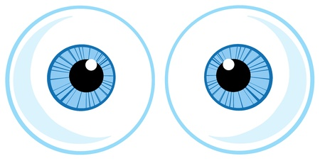 Two Blue Eye Balls Vector
