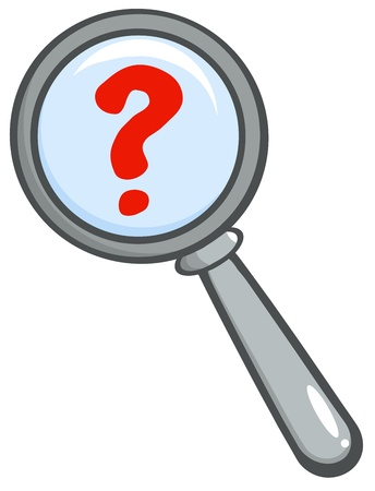 Magnifying Glass With Question Mark Vector