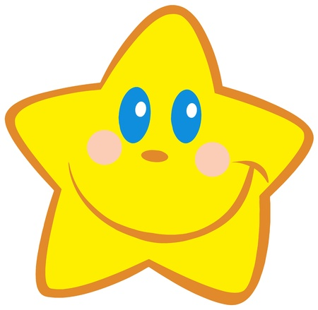 cartoon stars: Happy Little Star Illustration