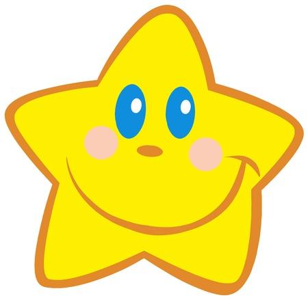 estrella caricatura: Little Star feliz