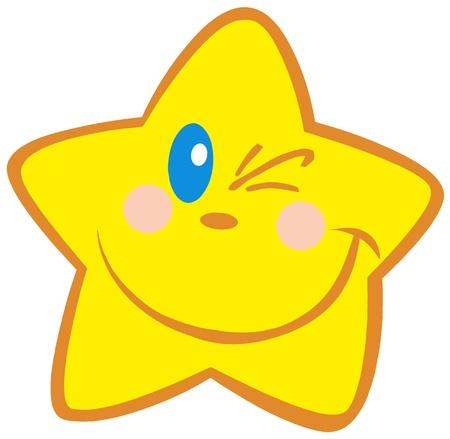 winking: Felice Little Star strizza l'occhio