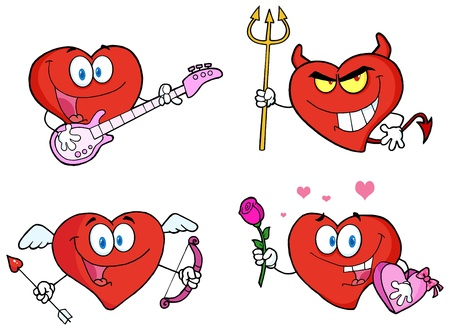 Heart Cartoon style Vector