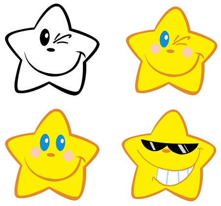 Happy Little Stars Vector