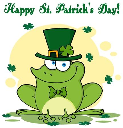 Happy Leprechaun Frog Greeting Card