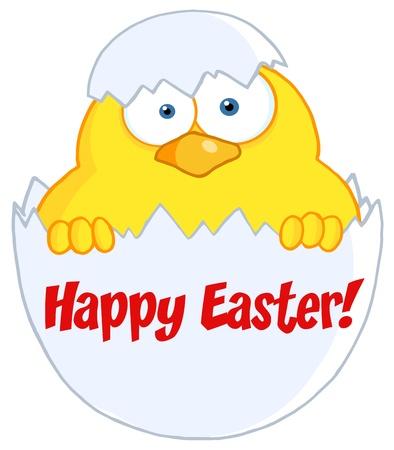 tojáshéj: Sárga Chick less el a egy tojáshéj