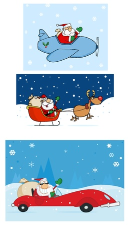 toy sack: Santa Claus Is Coming To Town  Vector Collection