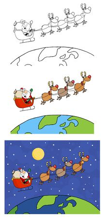 Santa Claus   Vector Collection Stock Vector - 12776397
