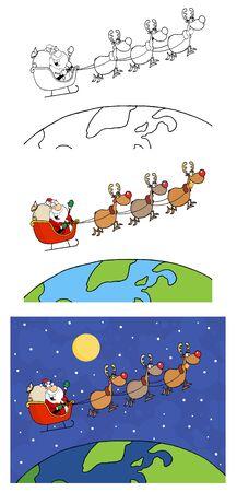 Santa Claus   Vector Collection Stock Vector - 12776397