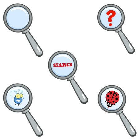 Magnifying Glass  Vector Collection Vector