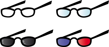 Eyeglasses  Vector Collection Stock Vector - 12776383
