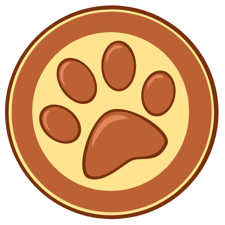 Brown Paw Print Banner Stock Vector - 12776366