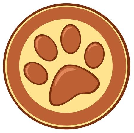 oso caricatura: La pata de Brown Banner Imprimir
