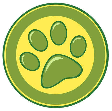 veterinary sign: Paw Print Banner