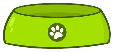 perro comiendo: Comederos de vac�o Vectores