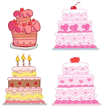 Verschiedene Kuchen Sammlung Standard-Bild - 13068170
