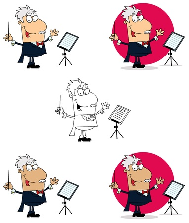 Conductor Man Collection Vector