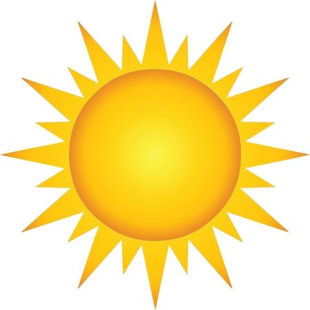 여름 뜨거운 태양 일러스트