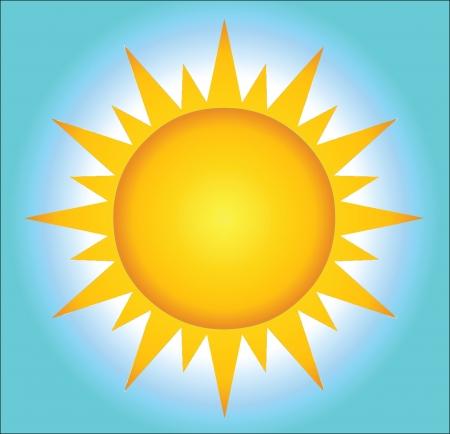 Hete zon Met Achtergrond