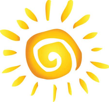 illustrazione sole: Hot Summer astratta Dom Vettoriali
