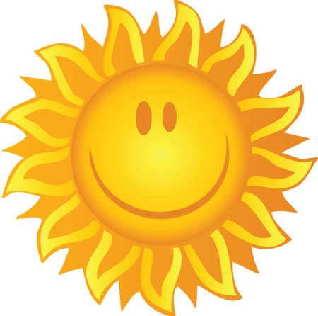 sun flares: Smiling Sun