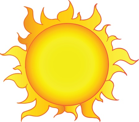 Yellow Sun Shining Vector