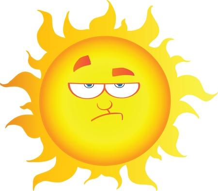 lowering: Lowering Sun Cartoon Character